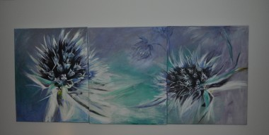 Dandelion Triptych by Margherita Destefanis