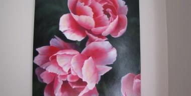 Pink Peonies by Sylvia Stanford