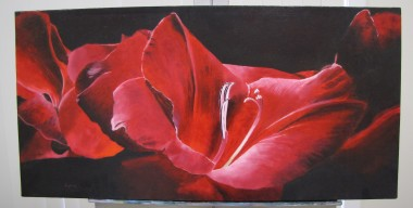Red Gladioli by Sylvia Stanford